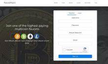 FaucetSpin - бесплатный кран криптовалют